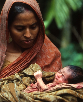 Bangladesh mother and child Khali village I